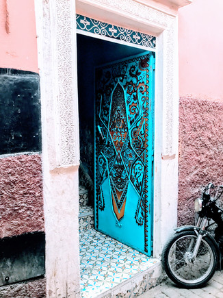 Henna Art Cafe. Marrakech, Morocco.