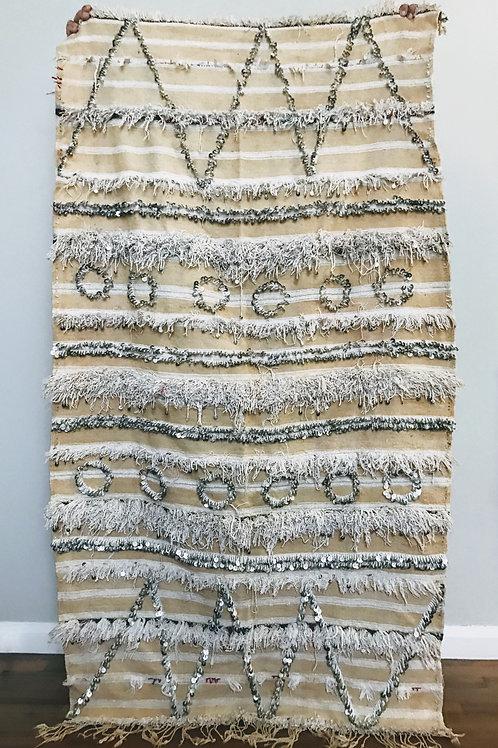 Moroccan Wedding Handira Vintage Berber Blanket
