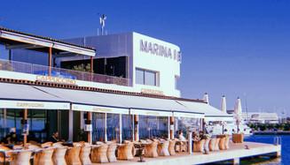 Grand Cafe Cappuccino Marina. Ibiza, Spain.