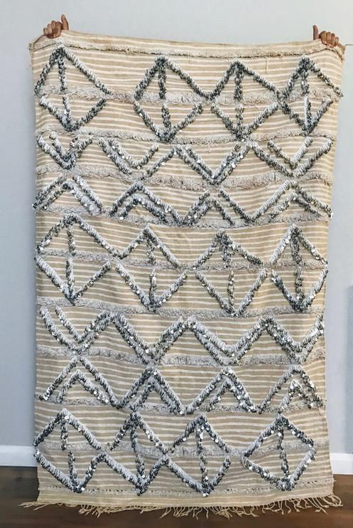 Moroccan Wedding Blanket.Moroccan Wedding Handira Vintage Berber Blanket