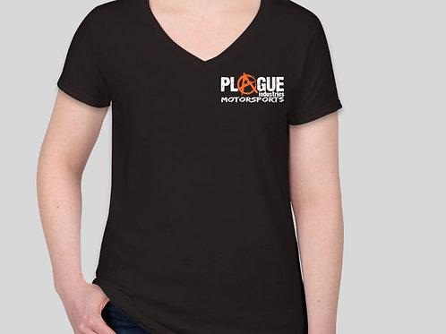 Plague Ladies V Neck T Shirt