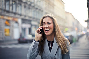 Canva - Blonde Hair Woman Wearing Gray S