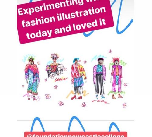 Newcastle College Fashion Illustration