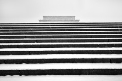 Lincoln in the Snow by Bob Burgess