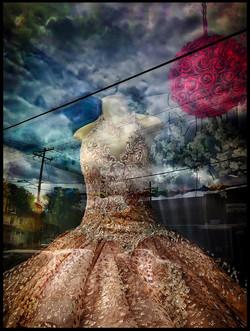 Mexican wedding dress by Tom Wolff