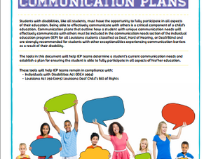 ACT 250: Tools for Developing Communication Plans