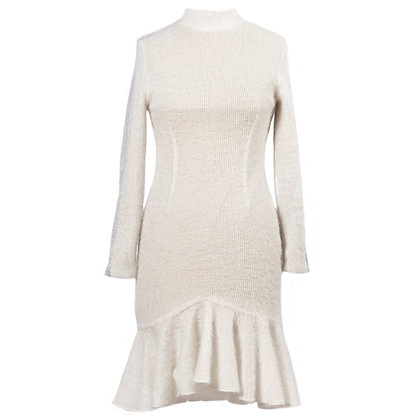 KNITTED TURTLENECK DRESS