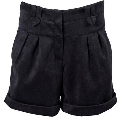 High Rise Scuba Suede Shorts