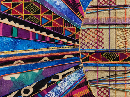 Lucie Hinden, an artist, who's work focuses on the world of patterns, rhythm and mystery...