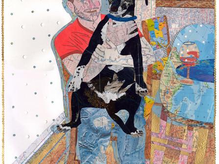 Nancy Goodman Lawrence, an artist whose work implies a narrative beneath the surface...