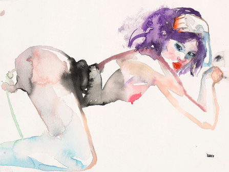 Fahren Feingold, an artist who's work 'captures the space where ethereal meets the erotic'...