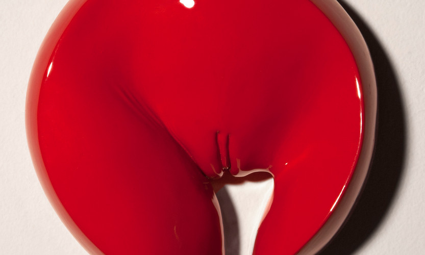 Torrance_Elizabeth_Vulva in Red_Ultracal Casting and Enamel Paint_1.jpg