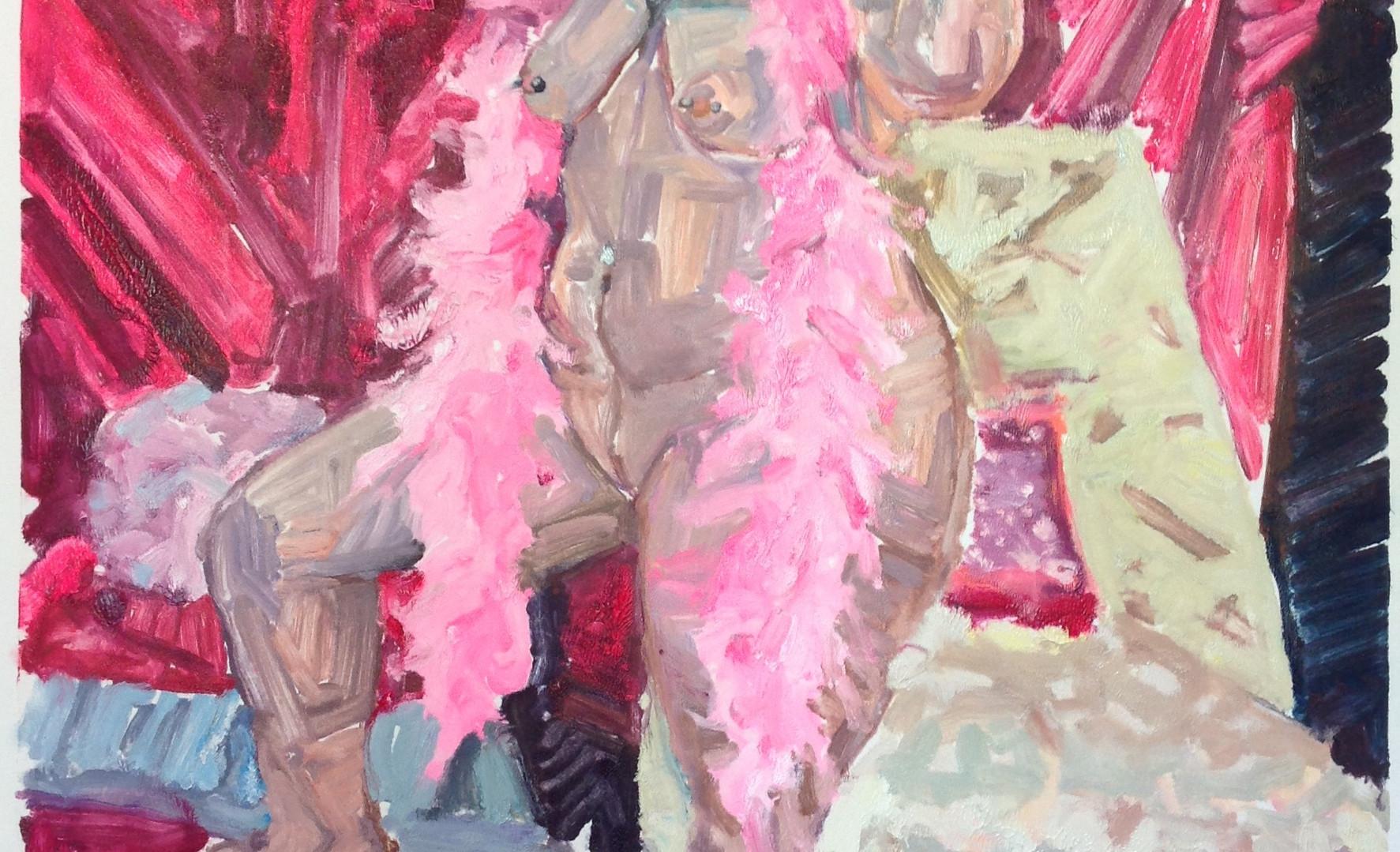 Tapley_Saralene_Sinke Nude With Pink Boa_monotype_4.jpg