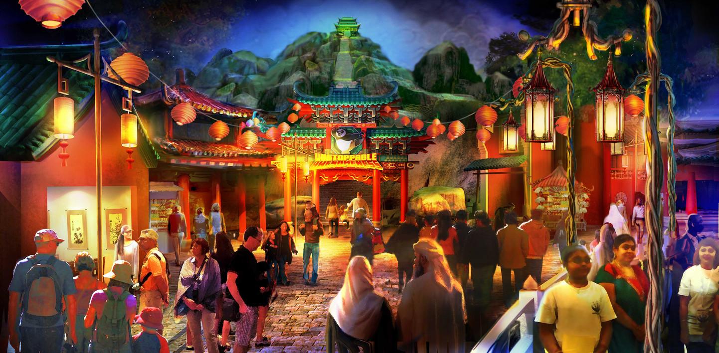 Kung Fu Panda Area Development Illustration