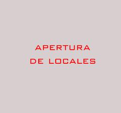03 Apertura de locales