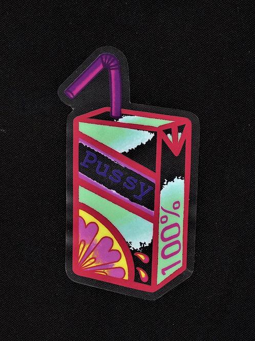 Juice Box Clear Sticker