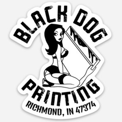 Black Dog Sticker