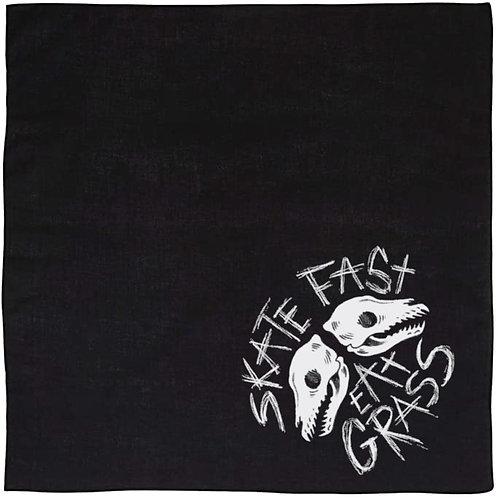Skate Fast, Eat Grass Dog Bandana