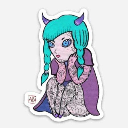 Devil Girl Sticker