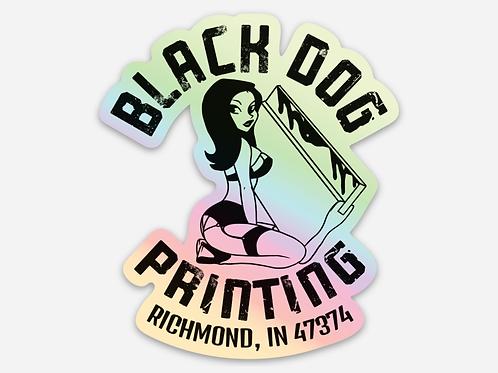 Black Dog Printing Holograph Sticker