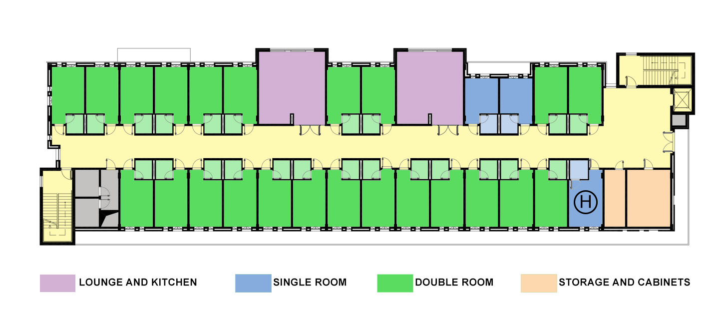 STUDENTS HOUSE TYPICAL PLAN