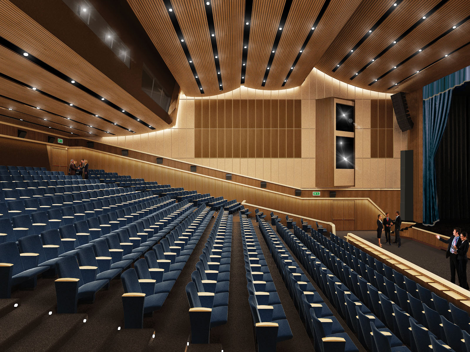 Rendering of Auditorium