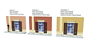 Proposition de simulaton de façade