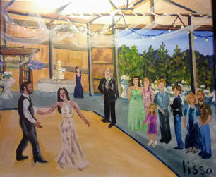 Barn Wedding Painting