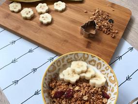 Ontbijt: Yoghurt met muesli & banaan