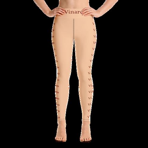 Vinaro Women Yoga Leggings Nude