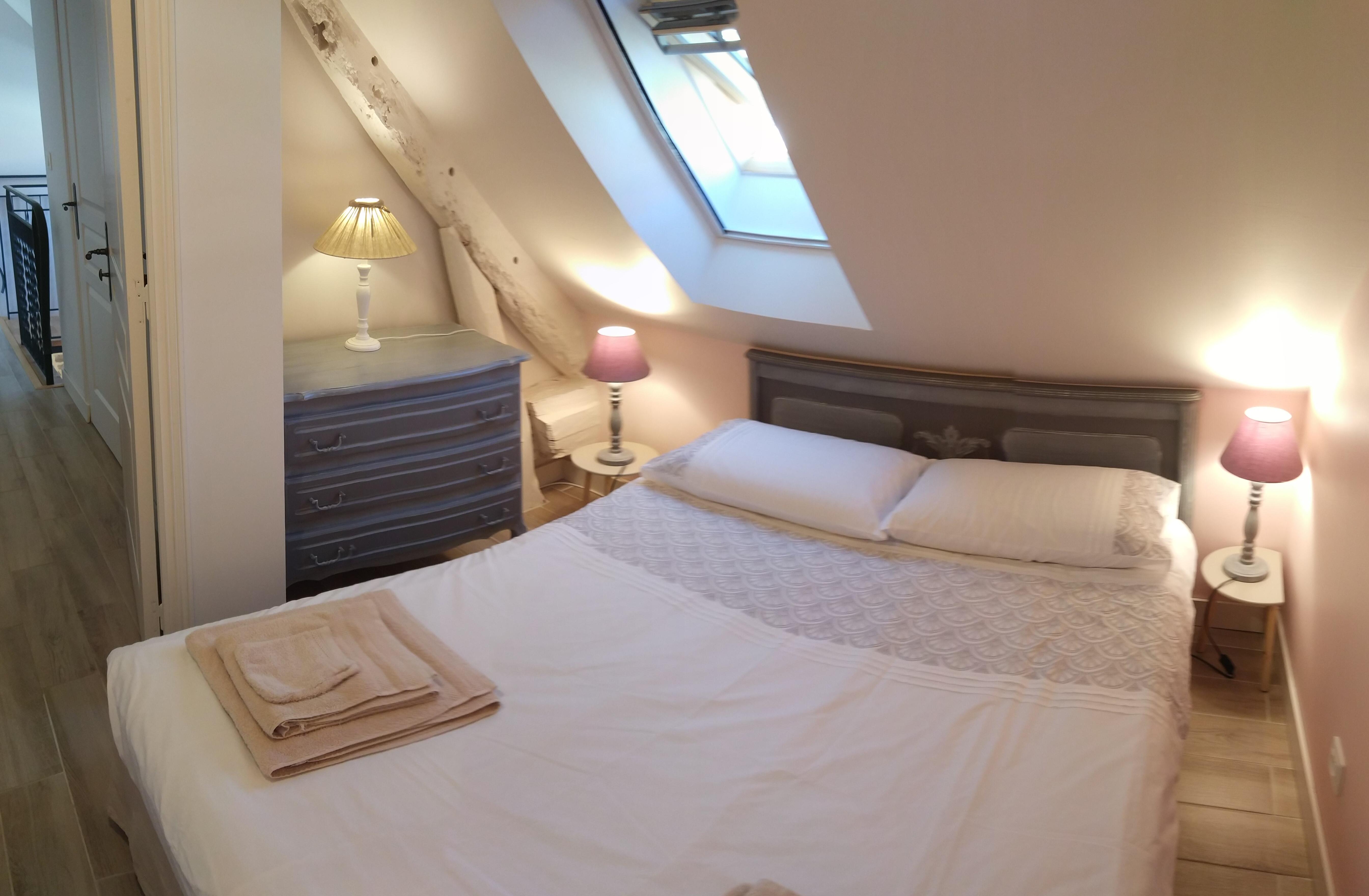 Chambre 2 rose - Pare soleil et moustiquaire
