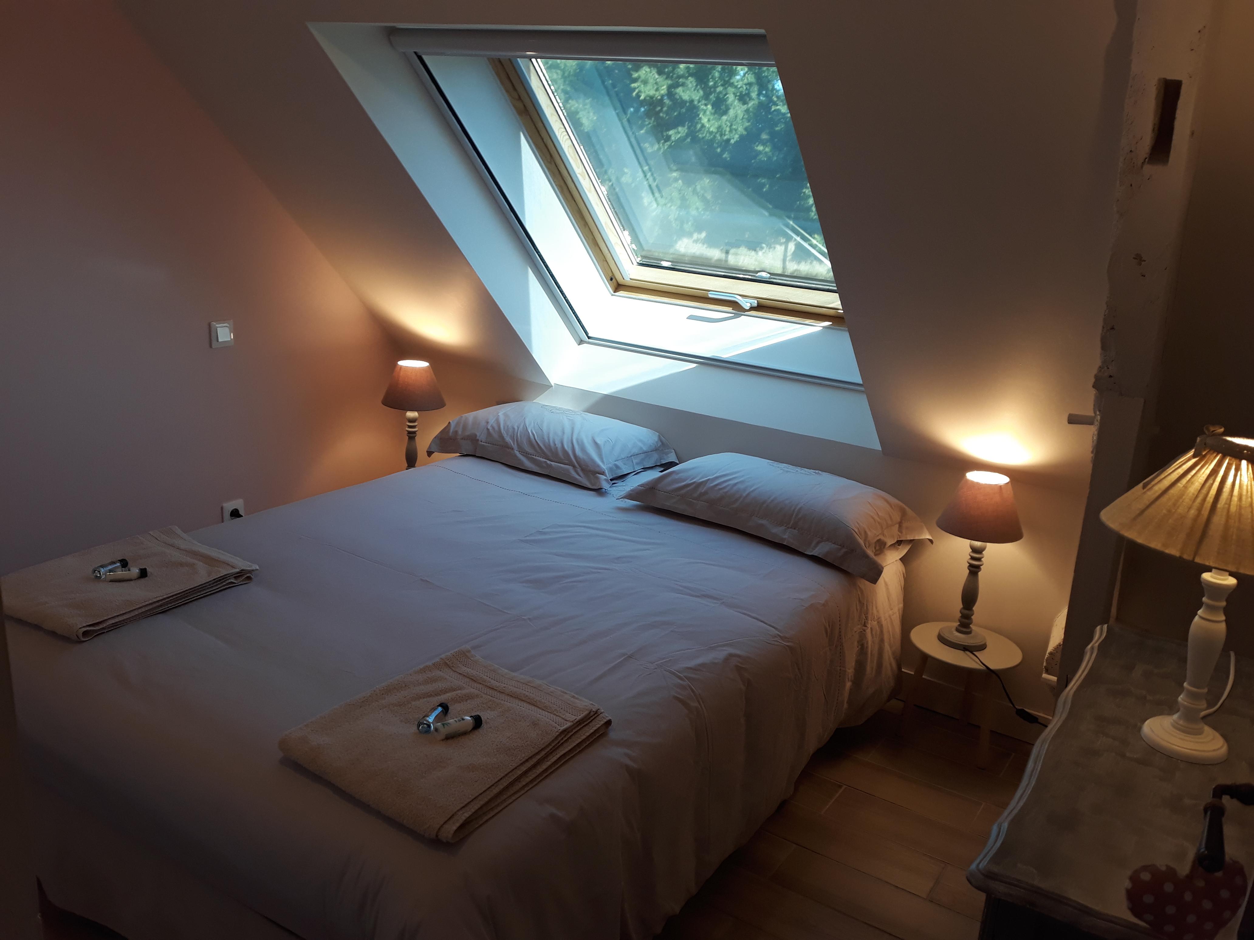 Chambre 1 rose - Pare soleil et moustiquaire