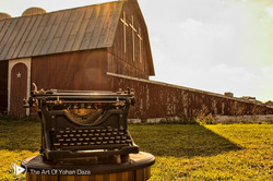 Typewriter & Barn by Yohan Daza