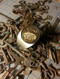 Cuff bracelet in a sea of keys!