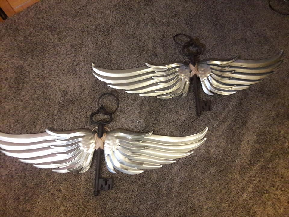 Winged Keys Wall Hangings