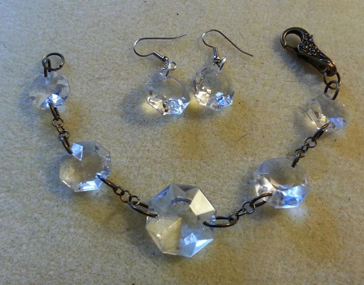 Set from Chandelier Crystals