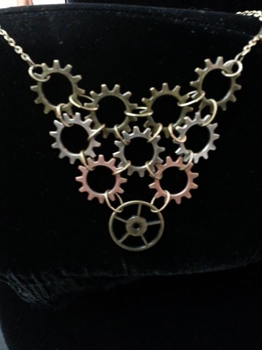 Gear Cascade Necklace