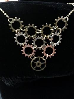 Gear Cascade Necklace
