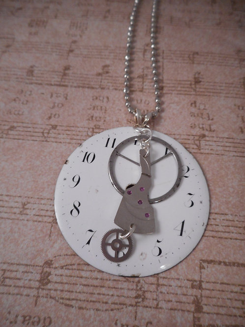 Antique Pocket Watch Face with Watch Parts