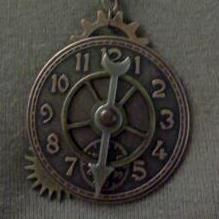 Clock Face Necklace