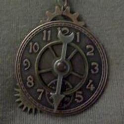 Clock Face Necklace
