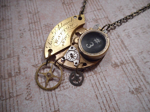 Pocket Watch Parts and Typewriter Key Necklace