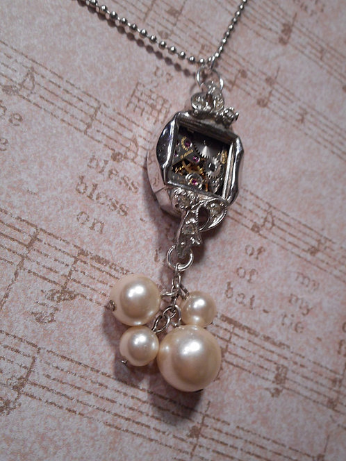 Antique Women's Watch case with vintage Pearls