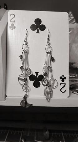 Watch Gear w/ Crystals Earrings