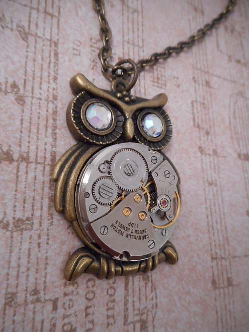 Steampunk Owl with Watch Body