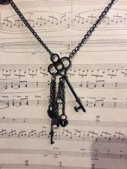 Black Key & Locks Necklace