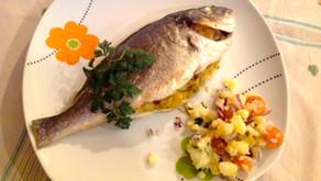 Pesce arrosto alla Santoreggia