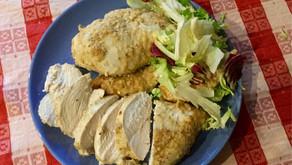 Petto di pollo in crosta di formaggio
