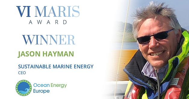 Jason Hayman takes Ocean Energy Europe's Vi Maris award