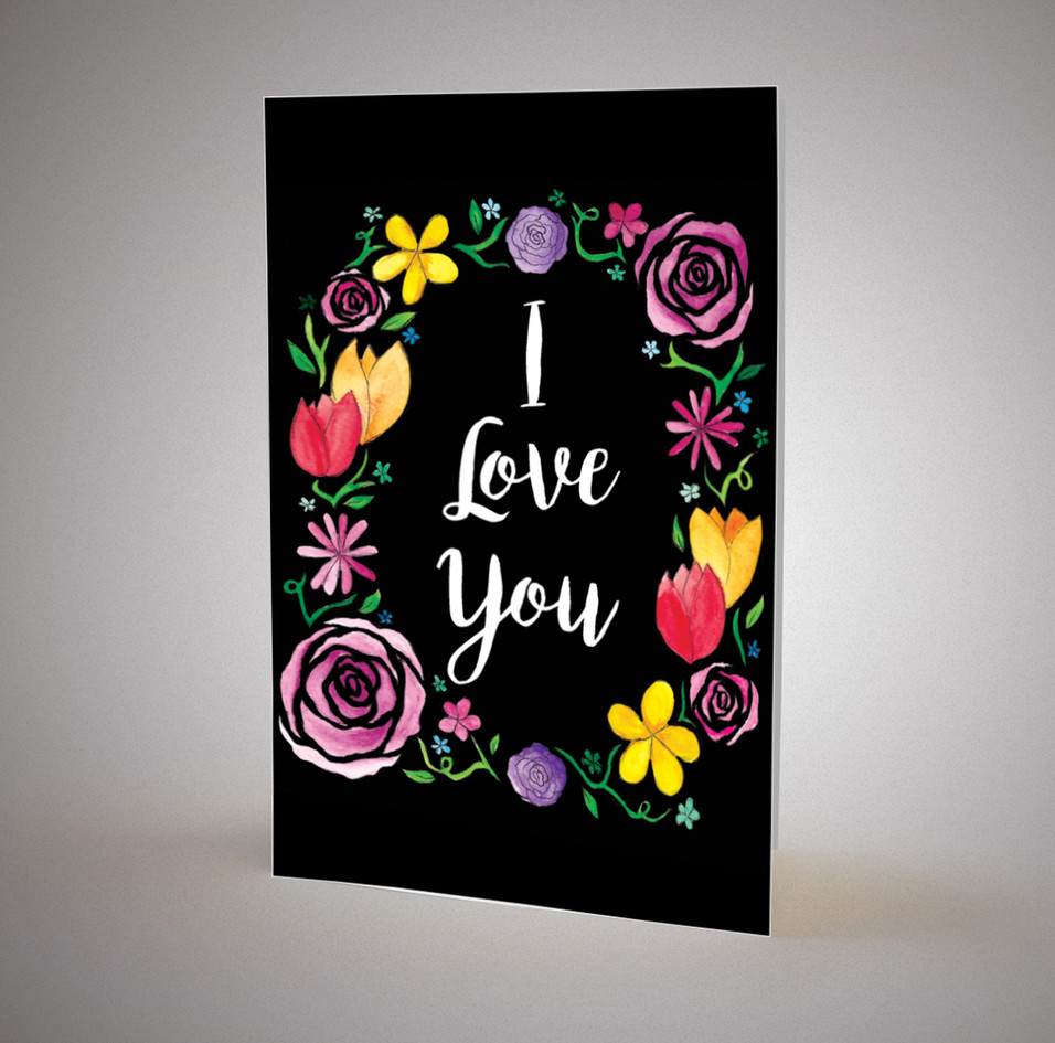 I love you greetings card
